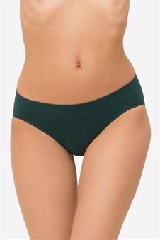 Green soft Maternity panties in bamboo fibers - Front  view