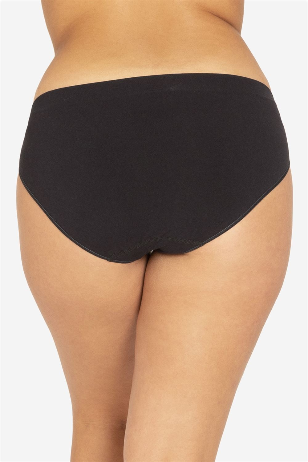 Black maternity panties in soft Organic bamboo fibres - Seen from behind