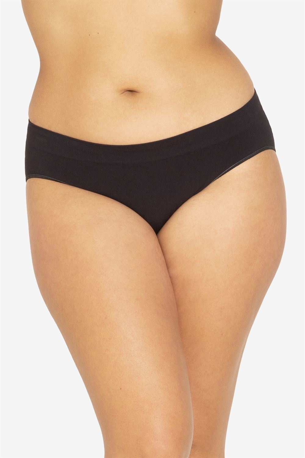 Black maternity panties in soft Organic bamboo fibres - Plus size