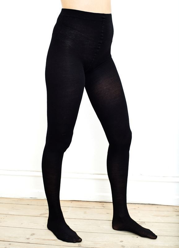 Black WOOL Maternity tights