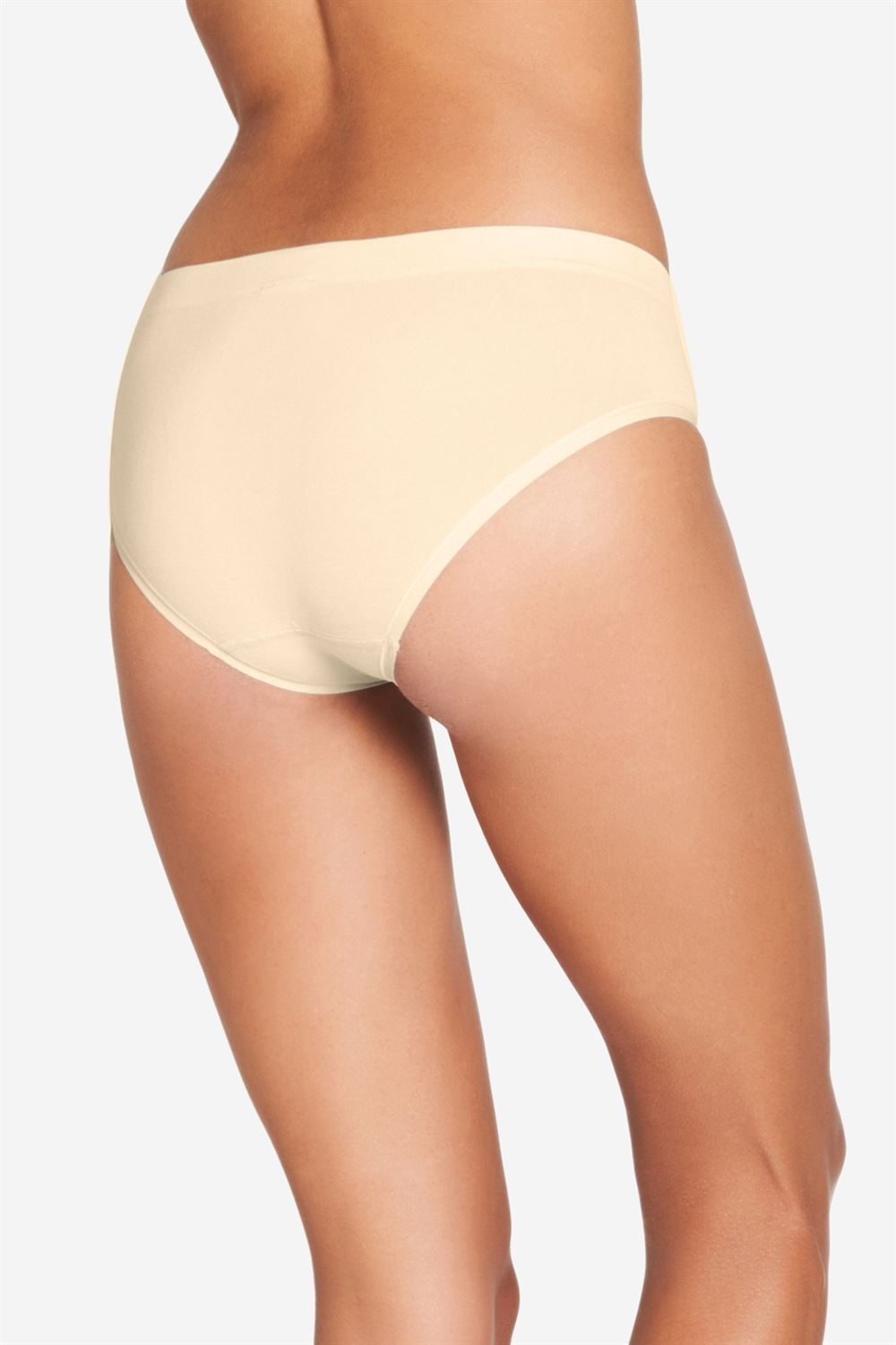 Nude Maternity panties in soft bamboo fibres - Organically grown - seen from behind