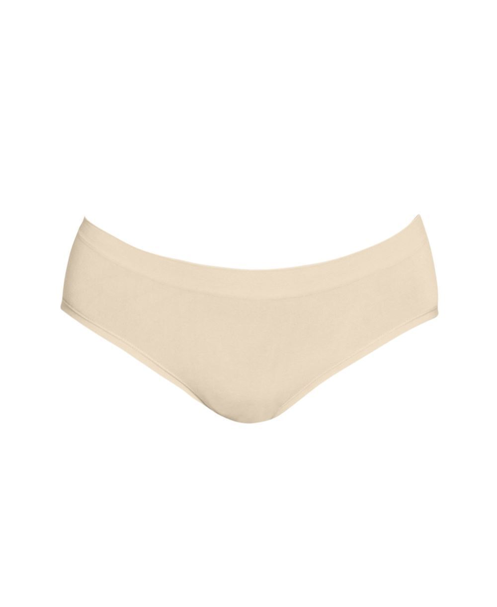 Nude Maternity panties in soft bamboo fibres - Organically grown - Detail front