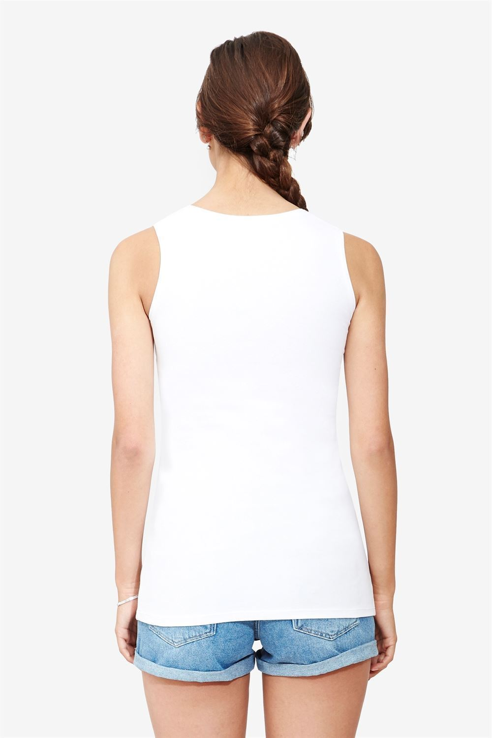 Classic white nursing top in simple design